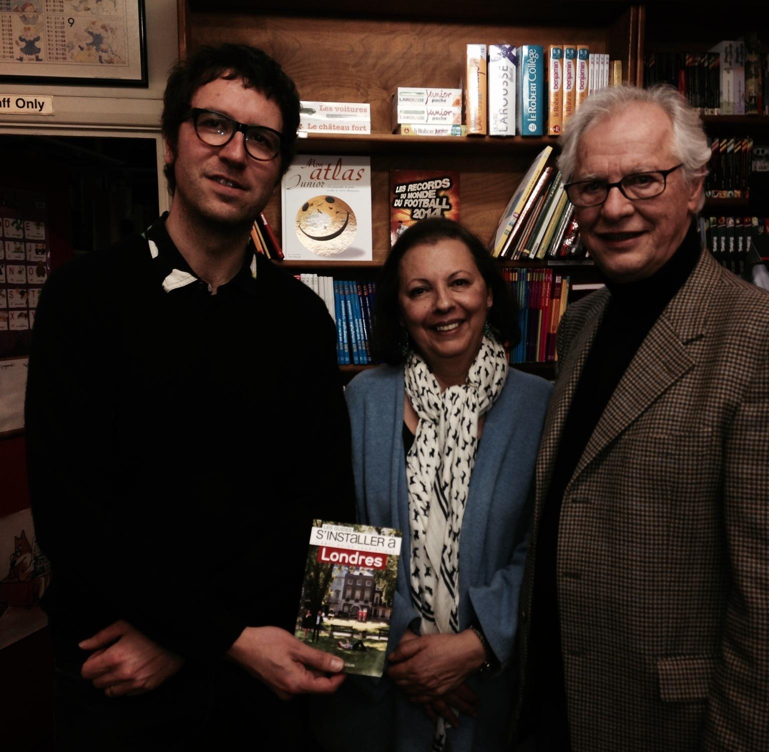"""Samuel Pétrequin présente """"S'installer à Londres"""" aux côtés de Laure et Robert Zaigue à la French Bookshop"""