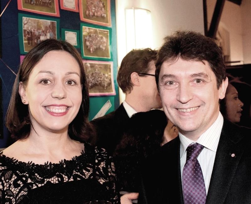 Véronique Ferreira, directrice pédagogique et cofondatrice de l'Ecole bilingue de Londres, et Olivier Cadic