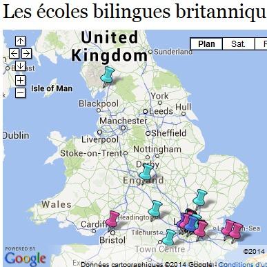 Ecoles bilingues britanniques
