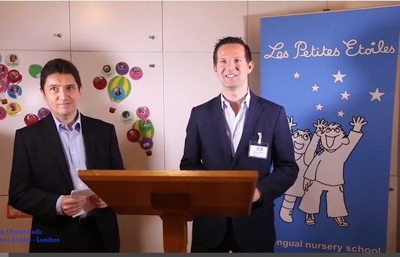 Olivier Cadic et Philippe Fraser - Journée portes ouvertes des Petites Etoiles du 04 octobre 2014