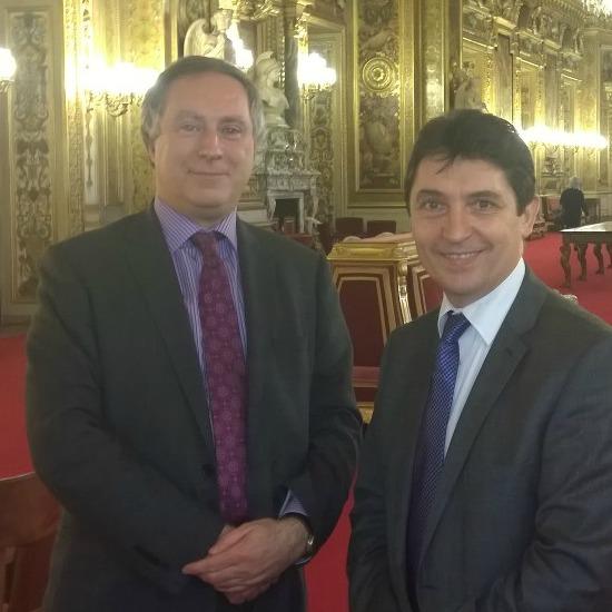Christian Albuisson, conseiller consulaire d'Ecosse et de l'ile de Man, lors de notre rencontre au Sénat, le 18 novembre 2014