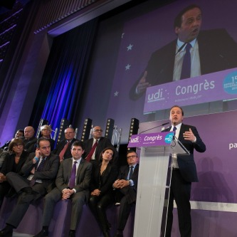 Congrès 2014 : Premier sénateur UDI représentant les Français établis hors de France, j'étais aux côtés de Jean-Christophe Lagarde, nouveau président de l'UDI