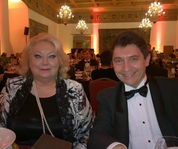 Maryse Berniau, ambassadeur de France et Olivier Cadic, lors du diner de gala de la chambre de commerce franco-lituanienne au palais du Grand Duc à Vilnius – 08-12-2014