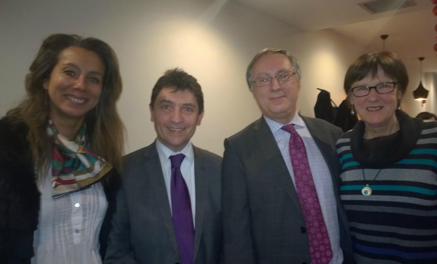 Véronique Bévierre, Olivier Cadic, Christian Albuisson et Anne-Colette Lequet, ancienne élue d'Édimbourg à l'AFE