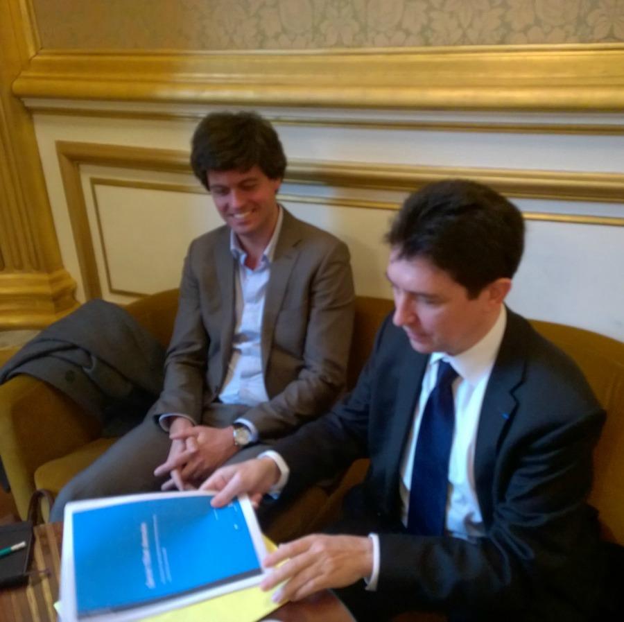 Olivier Cadic et Gaspard Koenig, président du think tank générationlibre – Sénat – 05-12-2014