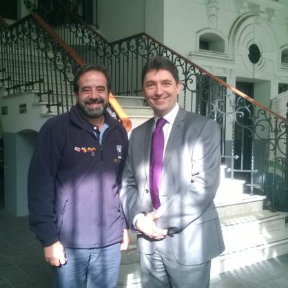 Juan Carlos Arellano Torre, chef d'unité du Samur, a été mon guide passionné et passionnant.