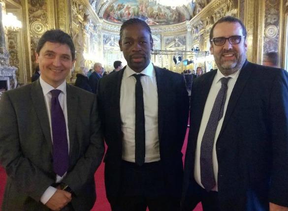Olivier Cadic, Serge Betsen et Christophe Lekieffre, conseiller parlementaire