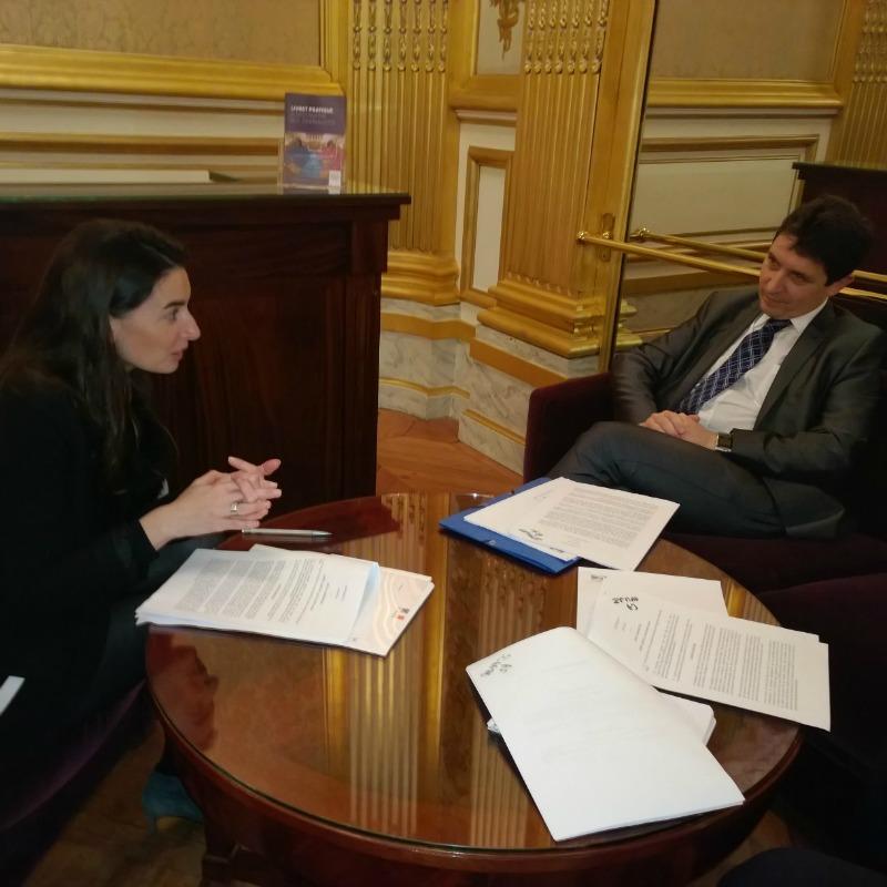 Agnès Verdier-Molinié, directeur de l'iFrap et Olivier Cadic - Sénat 2015