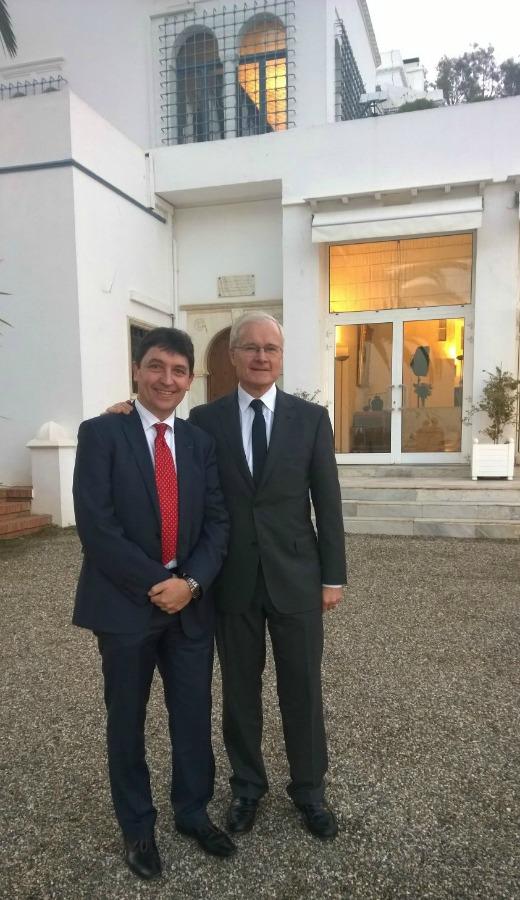 Olivier Cadic et Bernard Emié, ambassadeur de France à Alger, 7 janvier 2015