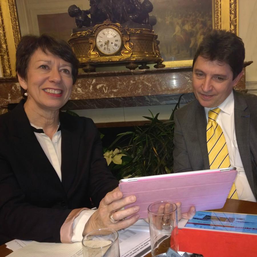 Anne Trousseau, présidente de la Fiafe et Olivier Cadic – Sénat, le 20.01.2015