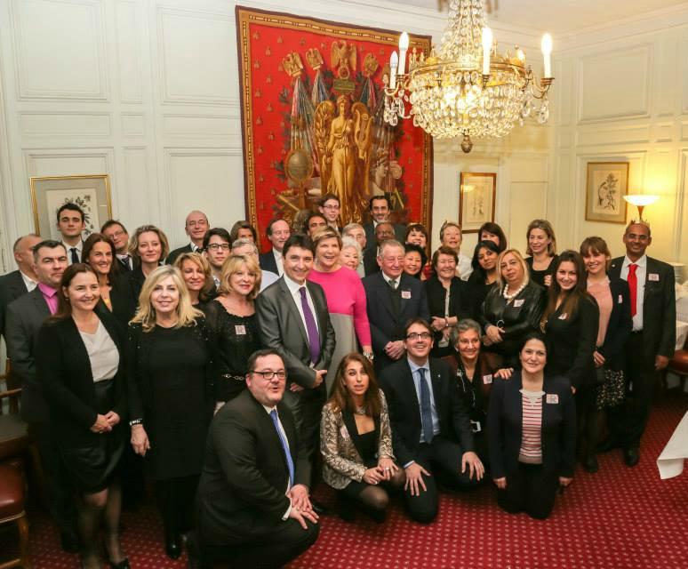 Diner annuel de l'UFE Ile de France. Tous réunis autour du président Pélisson au Sénat, le 14 janvier 2015