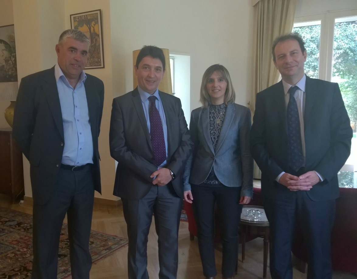 Pascal Capdevielle, conseiller consulaire Maroc ; Olivier Cadic ; Sandrine Tranchet, consule honoraire de Oujda ; Gilles Bourbao, consul général de Fès
