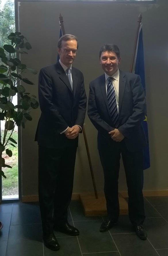 Rabat : Charles Fries, ambassadeur de France au Maroc, Olivier Cadic