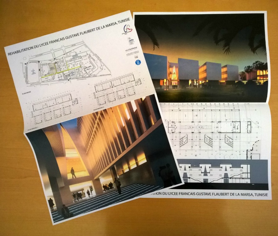 Les plans de rénovation du lycée Gustave Flaubert, à l'aspect futuriste