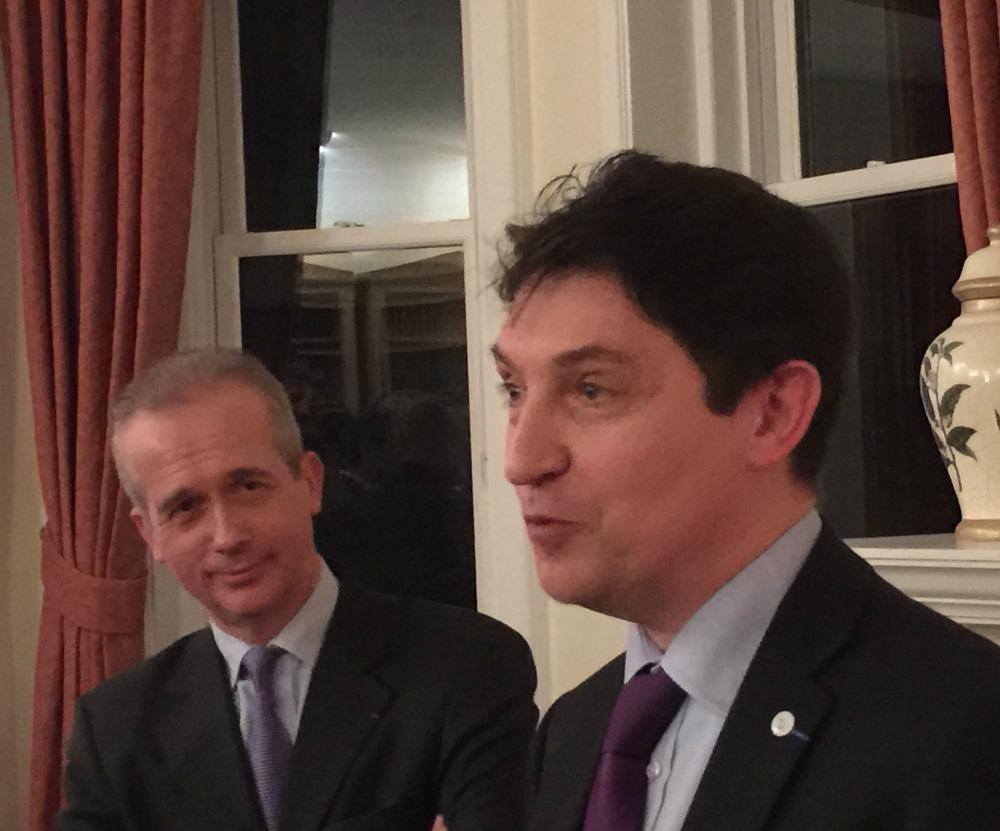 Bruno Clerc, consul général de France à Montréal et Olivier Cadic