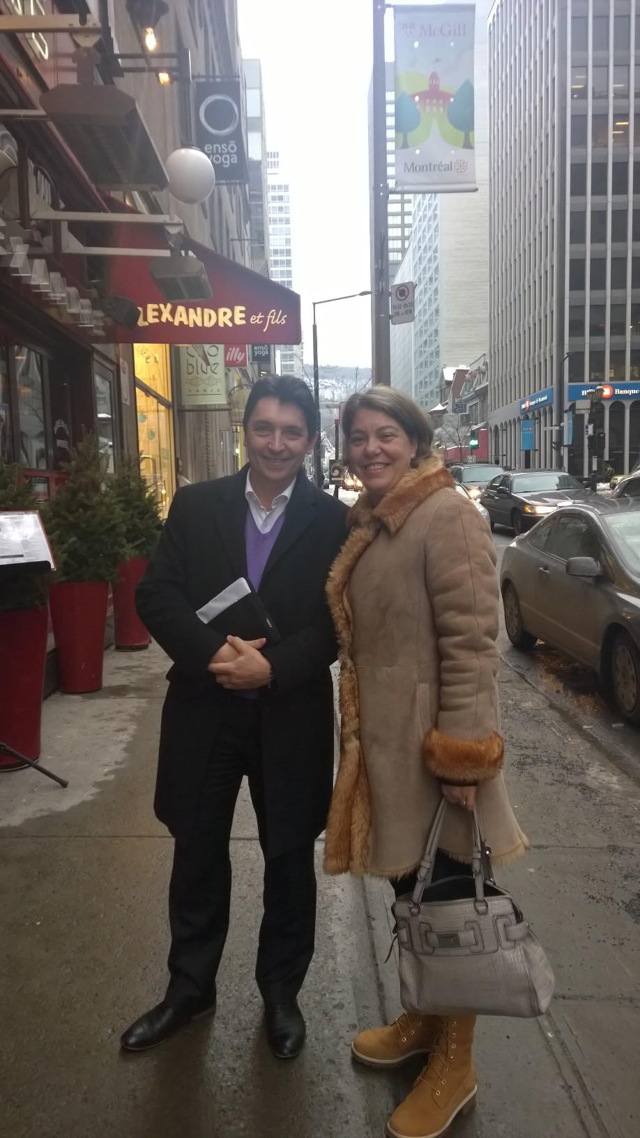 Olivier Cadic et Armelle Tardy-Joubert, directrice d'Atout France à Montréal