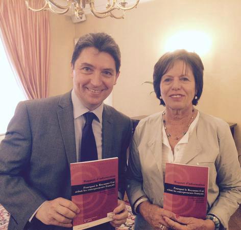 Olivier Cadic et Elisabeth Lamure, co-auteurs du rapport