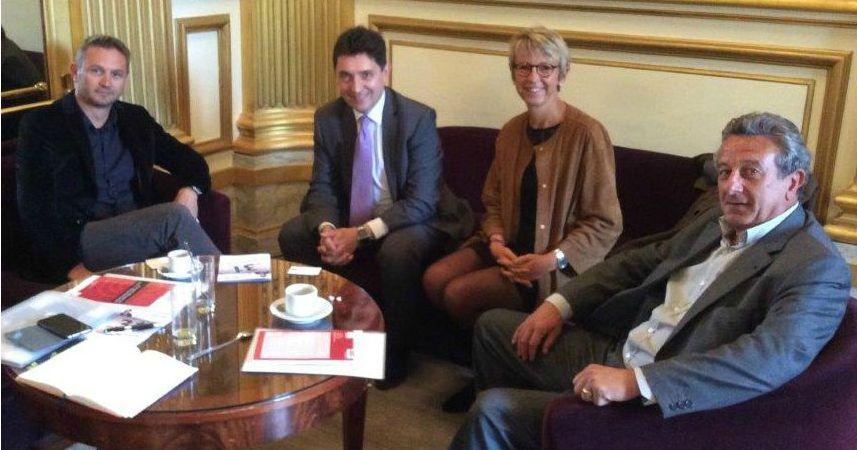 1-Boris Cadu, Olivier Cadic Annick Billon et Guillaume Dufresne Sénat 2015 09 22