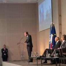 A trois mois de la COP21, Ban Ki-moon, secrétaire général des Nations Unies est venu placer le réchauffement climatique au coeur des préoccupations de chaque ambassadeur