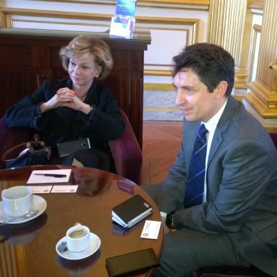 Avec ma collègue Jacky Deromedi, sénatrice représentant les Français établis hors de France