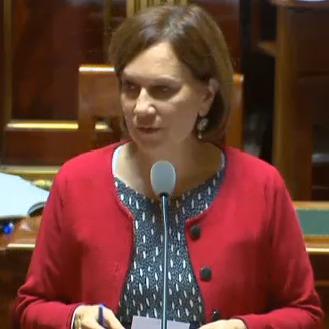 Laurence Rossignol, secrétaire d'Etat chargée de la Famille, dans l'Hémicycle du Sénat