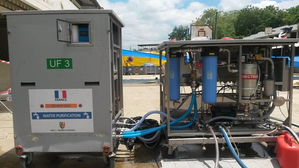 La France fournit des stations de potabilisation d'eau