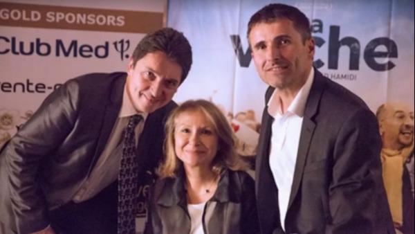 Olivier Cadic ; Patricia Connell, organisatrice du Festival, directrice de FranceInLondon.com et délégué consulaire UDI ; Olivier Bertin, directeur de l'école Les Petites Etoiles et élu AFE Europe du Nord.